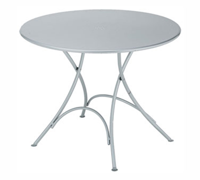 EmuAmericas 904 WHITE Classic Folding Table, 42 in Diameter, Whit