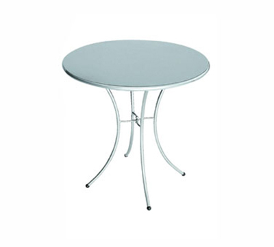 EmuAmericas 905 WHITE Kiss Table, 24 in Diameter, Solid Top, White