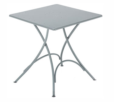 EmuAmericas 907 AIRON Classic Folding Table, 30 in Square, Iron