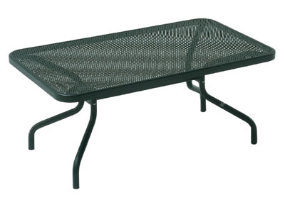 EmuAmericas 3418 Podio Low Coffee Table, Mesh Top, Tubular Frame, B