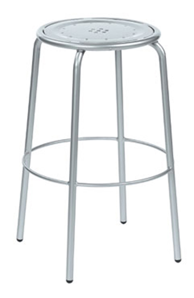 EmuAmericas 387 AIRON Coupole Backless Barstool, Steel Seat & Frame, Iron