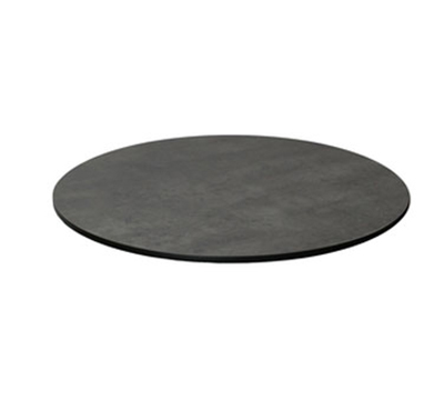 "EmuAmericas GA0024 24"" ALF Round Table Top - Indoor/Outdoor, Melamine Resin, Dark Concrete"