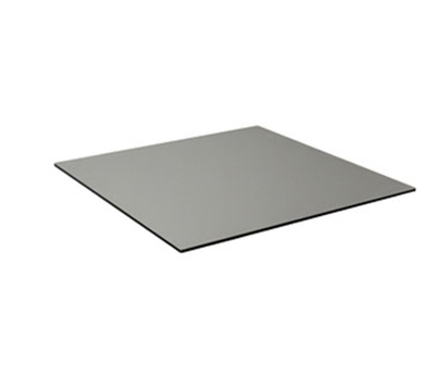 "EmuAmericas GA2424 24"" ALF Square Table Top - Indoor/Outdoor, Melamine Resin, Dark Concrete"