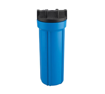 Dormont HSR-10HS 10-in Blue Filter Housing w/ Lid, 125-F & 125-PSI, Polypropylene