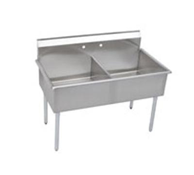 Elkay B2C18X21X Budget Sink w/ (2) 18x21x12-in Bowl & 9-in Splash