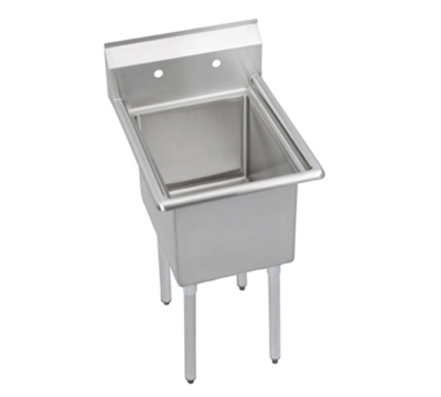 Elkay E1C16X20-0X Sink w/ 16x20x12-in Bowl & 9-in Splash