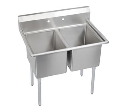 Elkay E2C16X20-0X Sink w/ (2) 16x20x12-in Bow