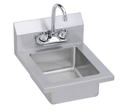 Elkay EHS14X Wall Economy Hand Sink w/ 10x14x5-in Bowl & Faucet