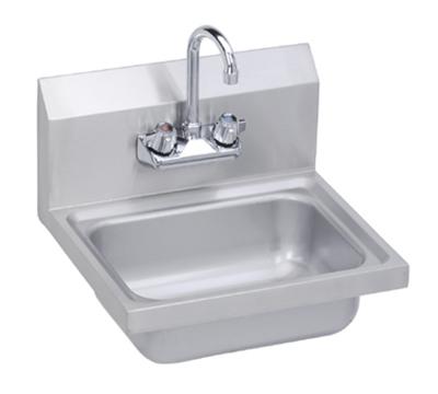 Elkay SEHS-17X Wall Hand Sink w/ Gooseneck Faucet & Basket Strainer, 17x15-in