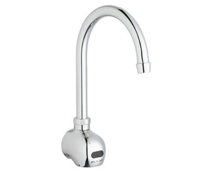 Elkay LKB722C Wall Electronic Faucet w/ 1-Hole & 5-in Gooseneck Spout