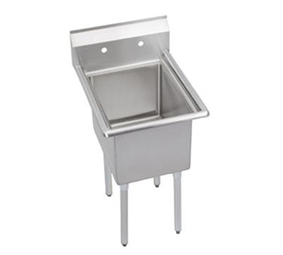 Elkay 14-1C24X24-0X Standard Sink w/ 24x24x14-in Bowl & 9-in Splash