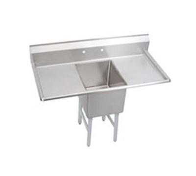 Elkay S1C18X18-2-18X Sink w/ 18x18x14-in Bowl & 9-in Splash, 18-in L-R Drainboard