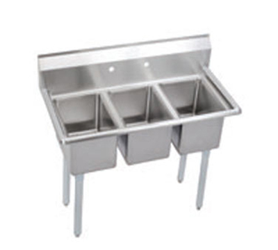 Elkay 3C10X14-0X Deli Sink w/ (3) 10x14x10-in Bowl & 9.75-in Splash