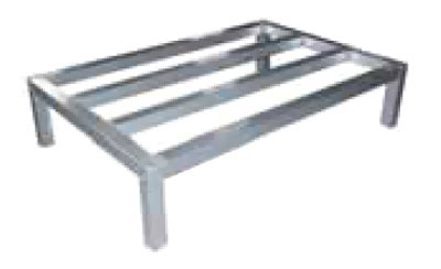 Elkay ADR362408-MX Dunnage Rack w/ 1500-lb Capacity, 8x36x24-in, Tubular Aluminum