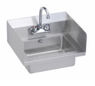 Elkay EHS-18-SDX Wall Economy Hand Sink w/ 14x10x5-in Bowl & Faucet, L-R Spl