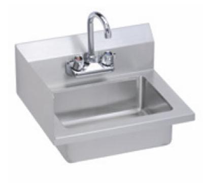 Elkay EHS-18-S-LX Wall Economy Hand Sink w/ 14x10x5-in Bowl & Fauce