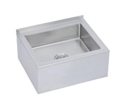 Elkay FLR-2X Mop Sink w/ 20x28x6-in Bowl & 2-in Free Flow Drain, Stainless