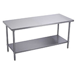 Elkay EWT30S72-STG-4X Work Table w/ Galvanized Undershelf, 72x30-in, 18/300-Sta