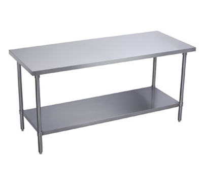 Elkay WT30S48STSX Flat Top Work Table w/ Stainless Undershelf, Stainle