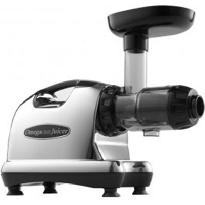 Omega 8006 Commercial Juicer - HD, Chrome/Black