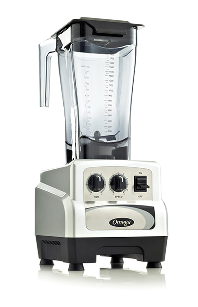 Omega BL480S Commercial Blender - On/Off, Timer, 64-oz, Variable