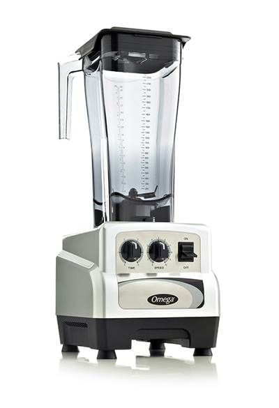 Omega BL490S Commercial Blender - On/Off, Timer, 82-oz, Variable