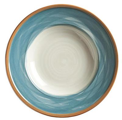 "World Tableware CCB-10270 10-3/4"" Round Plate - Ceramic, Blue"