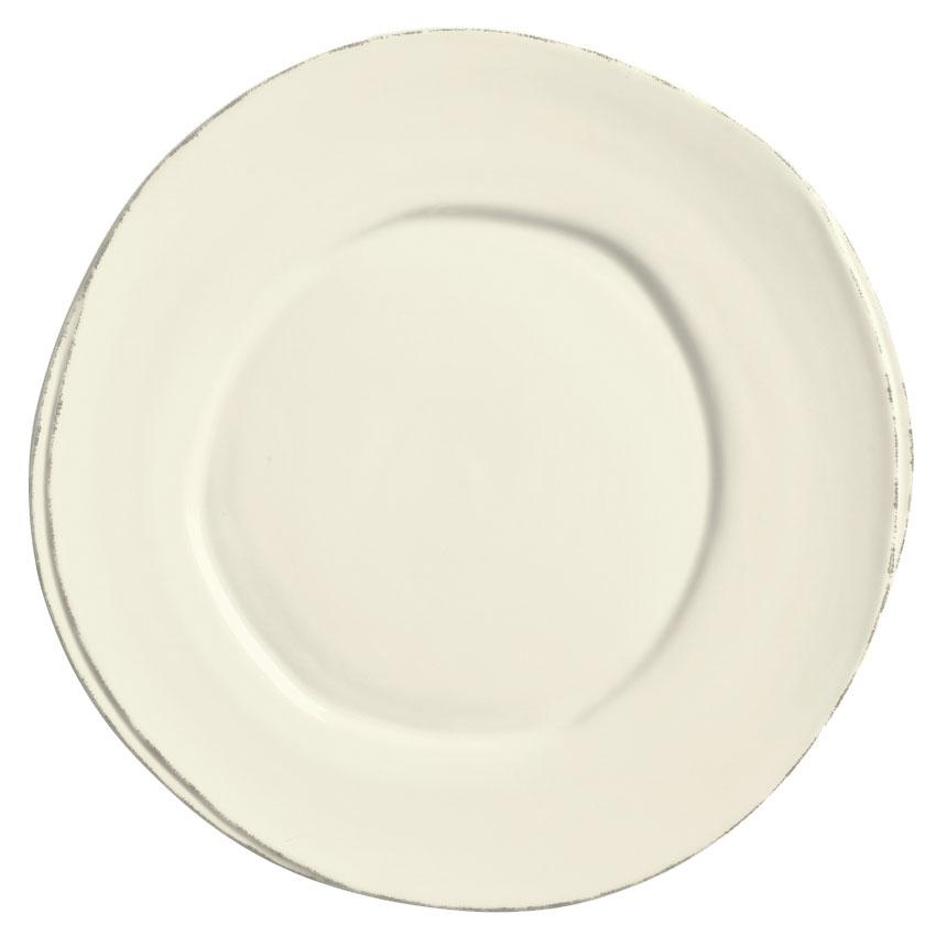 """World Tableware FH-500 6-3/8"""" Round Plate - Ceramic, Cream White, Wide Rim"""