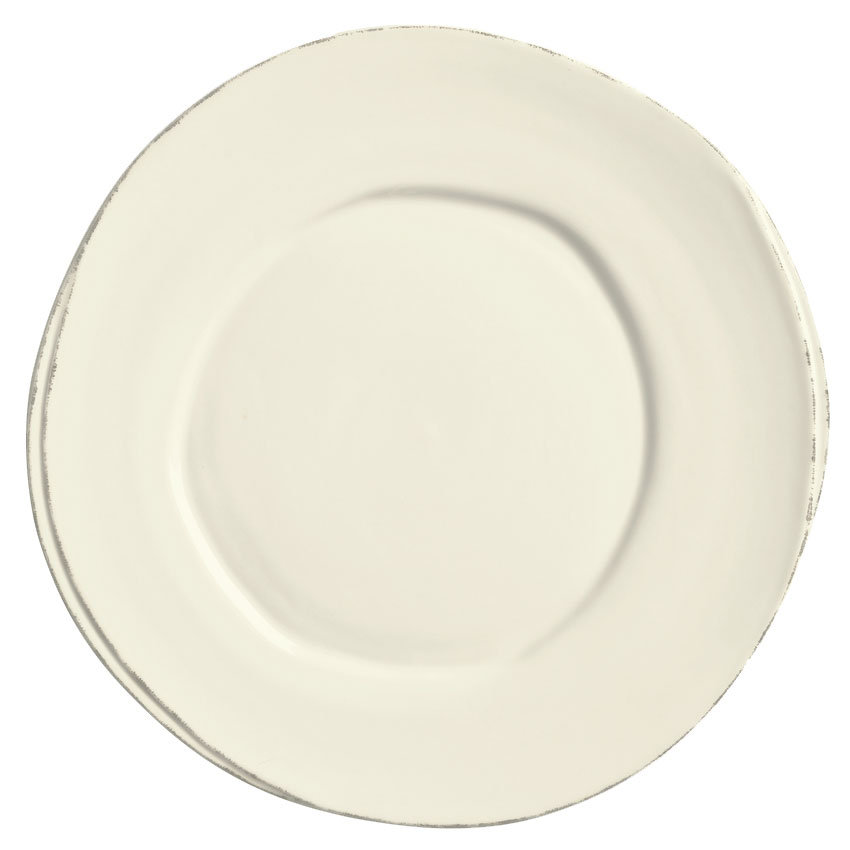 "World Tableware FH-503 10-1/2"" Round Plate - Ceramic, Cream W"