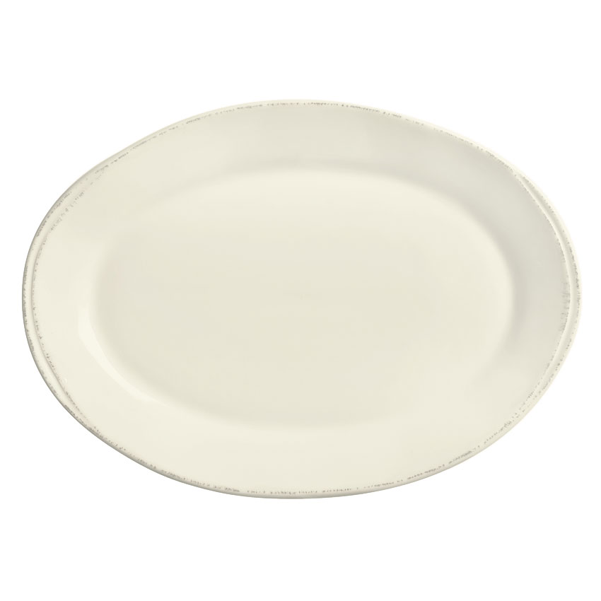 World Tableware FH-508 Oval Platter - Ceramic, Cream White, 12-1/2 x 9""