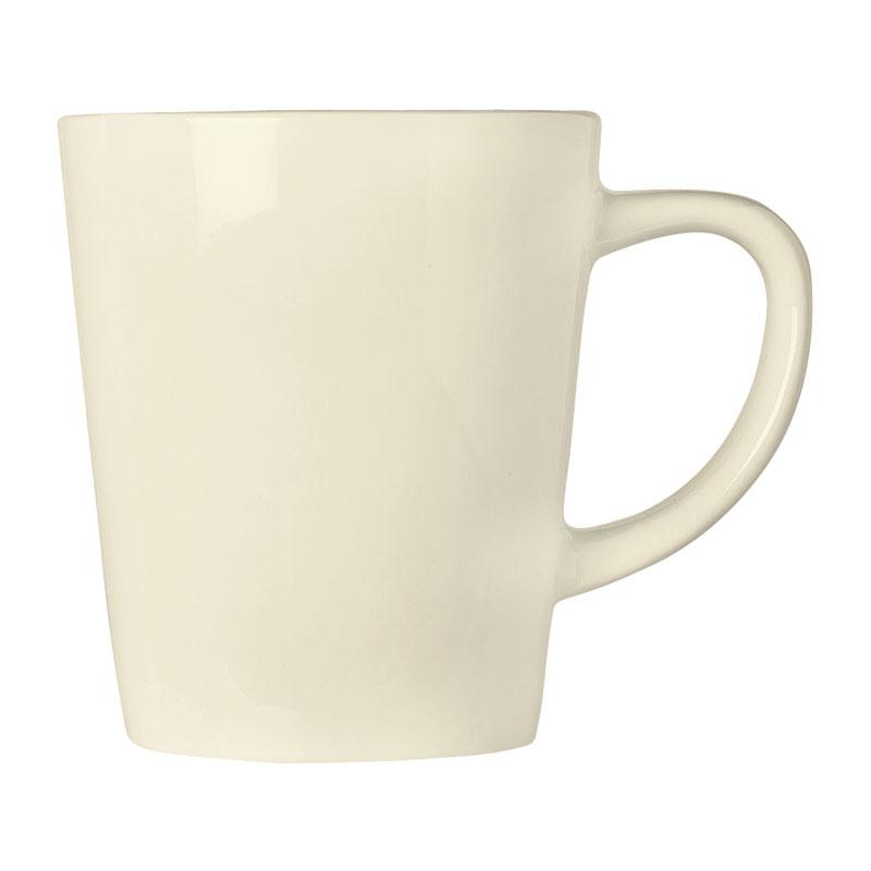 "World Tableware FH-517 12 oz Mug - Ceramic, Cream White, 4"" H"
