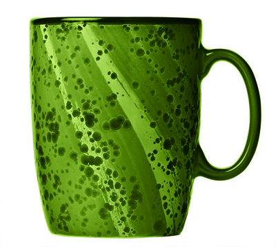 "World Tableware PTG-501 13-1/2 oz Green Mug - Ceramic, 4-1/4"" H"