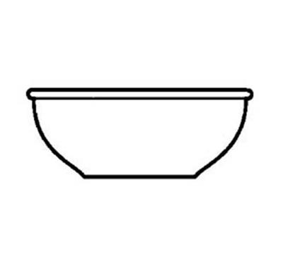 World Tableware PWC-15 5.62-in Nappie w/ 12.5-oz Capacity & Rolled Edge, Cream White, Princess Ulti