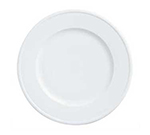 "World Tableware 150210205 8-1/4"" Empire Wide Rim Plate - Porcelain, Bright White"