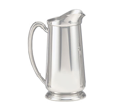 World Tableware 8417 64-oz Traditional Water Pitcher - Ice Guard, Silverp