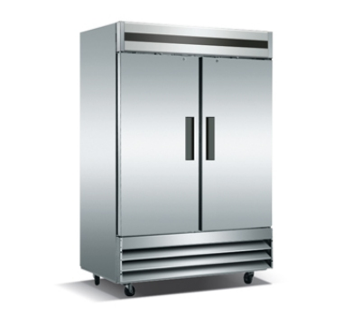 Metalfrio CFD-2RR-48 2-Section Reach In Refrigerator w/ Lock & Key, 48-cu ft, Stainless