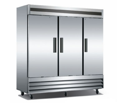 Metalfrio CFD-3RR-72 3-Section Reach In Refrigerator w/ Lock & Key, 75-cu ft, Stainless