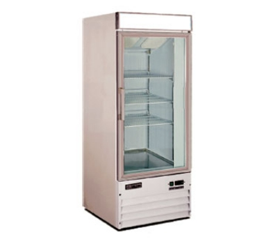 Metalfrio D238BMF Upright Freezer w/ 1-Glass Door & 3-Shelves, 8.6-cu ft, White