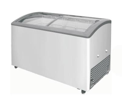 Metalfrio MSC-49C 14.5-cu ft Angled Curve Top Freezer Chest w/ Bottom Mount System, Self Contained