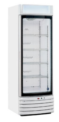 Metalfrio STAR-55 Upright Freezer w/ Curved Glass Self Closing Door, 17-cu ft, White
