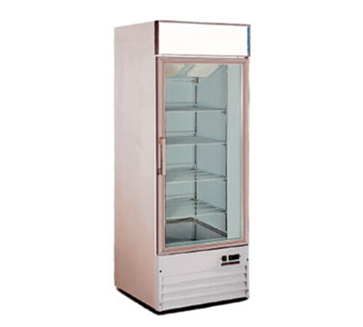 Metalfrio D368BMF Upright Freezer w/ 1-Glass Door & 3-Shelves, 15.5-cu ft, White