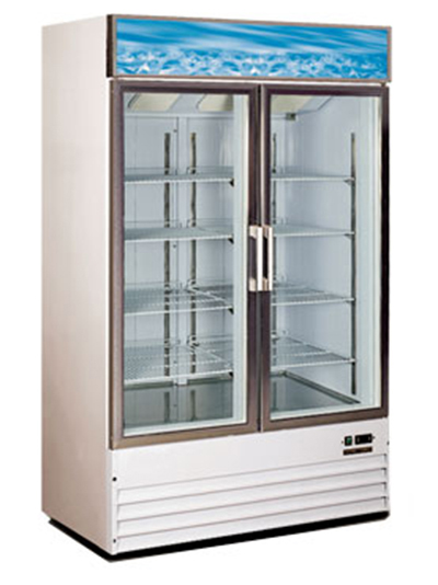 Metalfrio D768BM2F Upright Freezer w/ 2-Glass Doors & 8-Shelves, 32-cu ft, White