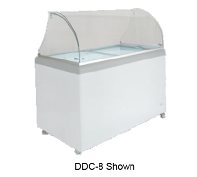 Metalfrio DDC-4 6.0-cu ft Ice Cream Dipping Cabinet w/ Glass Canopy & 6-Tub Capacity, 120/1 V