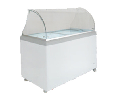 Metalfrio DDC-8 11.5-cu ft Ice Cream Dipping Cabinet w/ Glass Canopy & 14-Tub Capacity, 120/1 V