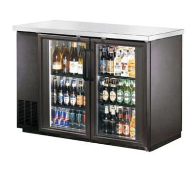 Metalfrio MBB24-48G 11.8-cu ft Undercounter Bar Back Cooler 2-Double Pane Hinged Glass Door, 48.8-in