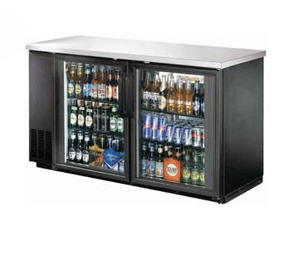 Metalfrio MBB24-60G 15.8-cu ft Undercounter Bar Back Cooler 2-Double Pane Hinged Glass Door, 60.8-in