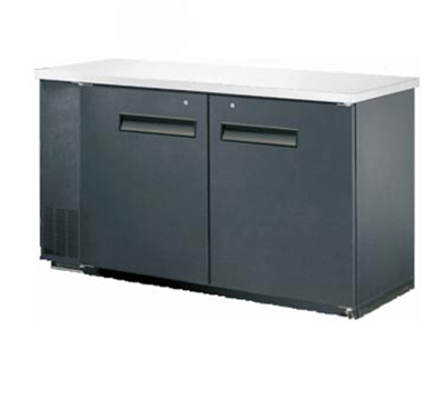 Metalfrio MBB24-60S 15.8-cu ft Undercounter Bar Back Cooler w/ 2-Lockable Hinged Glass Door, 60.8-in