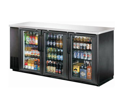 Metalfrio MBB24-72G 19.6-cu ft Undercounter Bar Back Cooler 2-Double Pane Hinged Glass Do