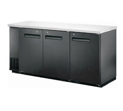 Metalfrio MBB24-72S 19.6-cu ft Undercounter Bar Back Cooler w/ 2-Insulated Hinged Glass D