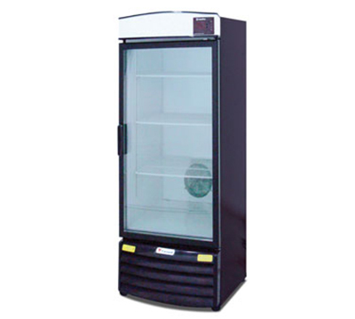 Metalfrio REB-16 1-Section Upright Cooler w/ 1-Glass Door & 4-Shel